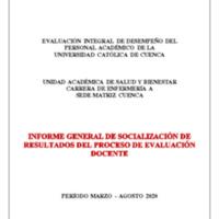 Informe Evaluación - Enfermería A