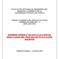 Informe Evaluación - Derecho A