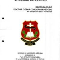 Informe de Labores Rectorado 2011