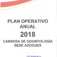 Plan Operativo Anual de la carrera de Odontología - Azogues - Periodo 2018