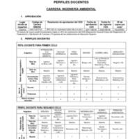 Perfiles Docentes - Carrera de Ingeniería Ambiental