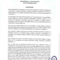 Resolución Nro. C.U. 785 -2019-UCACUE