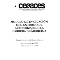 Modelo de evaluación de la carrera de medicina