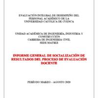 Informe Evaluación - Ingeniería Civil