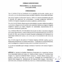 RESOLUCIÓN C.U. 364-2016-UCACUE