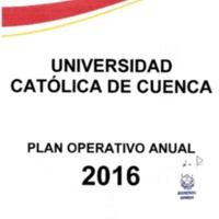 Plan Operativo Anual 2016 - POA