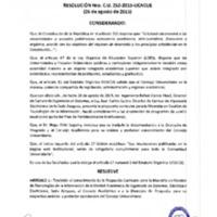 RESOLUCIÓN C.U. 252-2015-UCACUE