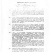 Resolución de la Acreditación - Carrera de Derecho
