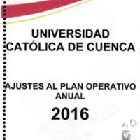 Ajustes al Plan Operativo Anual 2016 - POA