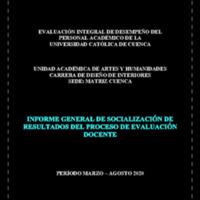 Informe Evaluación - Diseño de Interiores