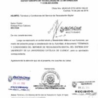 Términos y Condiciones del Servicio de Recaudación Digital del sistema ERP - Universidad Católica de Cuenca