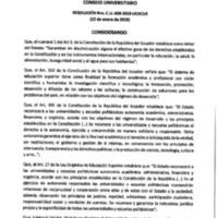 Resolución Nro. C.U. 600-2019-UCACUE