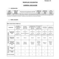 Perfil de Docentes - Carrera de Educación