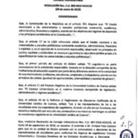 Resolución Nro. C.U. 609-2019-UCACUE