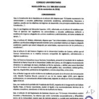 Resolución Nro. C.U. 588-2018-UCACUE