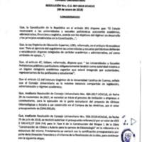 Resolución Nro. C.U. 607-2019-UCACUE
