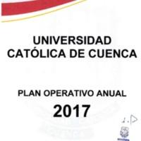 Plan Operativo Anual 2017 - POA