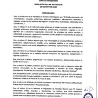 Resolución Nro. C.U. 648-2019-UCACUE