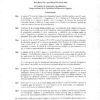 Reglamento de procesos de autoevaluación CEAACES