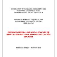 Informe Evaluación - Educación Inicial