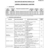 Descripción Microcurricular - Carrera de Contabilidad y Auditoría.