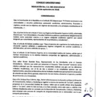 Resolución Nro. C.U. 565-2018-UCACUE<br /><br />