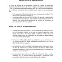 INSTRUCTIVO DE PLANES DE ESTUDIO Y CERTIFICADOS