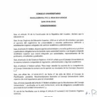 RESOLUCIÓN C.U. 074-2014-UCACUE