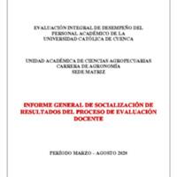 Informe Evaluación - Agronomía
