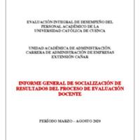 Informe Evaluación - Administración De Empresas