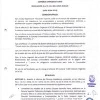 Resolución  Nro. 70 C.U 0014-2014 UCACUE