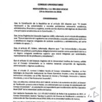 Resolución Nro. C.U. 595-2018-UCACUE