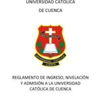 Reglamento de Ingreso, Nivelación y Admisión a la UCACUE