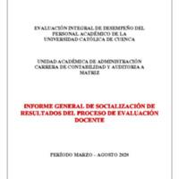 Informe Evaluación - Contabilidad y Auditoría A