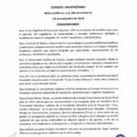 RESOLUCIÓN C.U. 095-2014-UCACUE