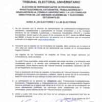 Aviso Electores y Electoras